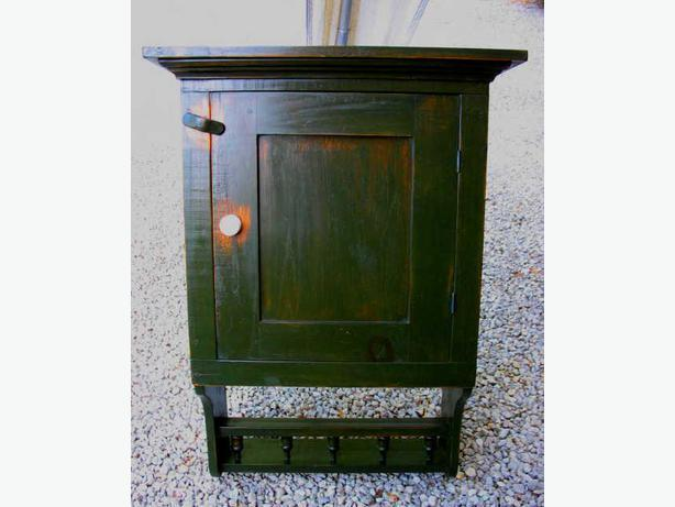 Corner Cupboard & Hanging Wall Cabinets, Antique & Modern