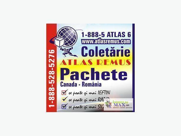 Colete Express Canada Romania maritim numai prin ATLAS REMUS