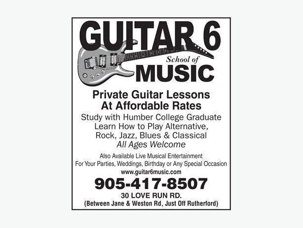 Private Guitar lessons woodbridge ontario (York Region)