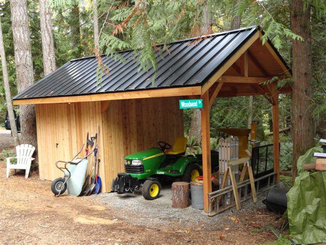 Post and beam small shed and barn building kits for Garden shed victoria bc