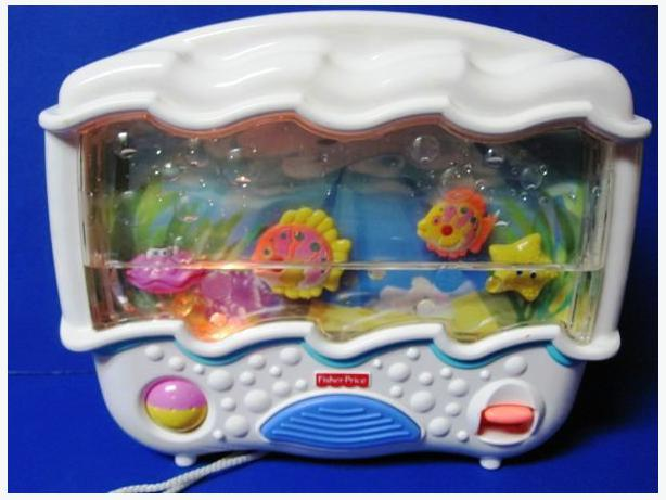 Fisher price ocean wonders aquarium musical lights sounds for Fisher price fish bowl