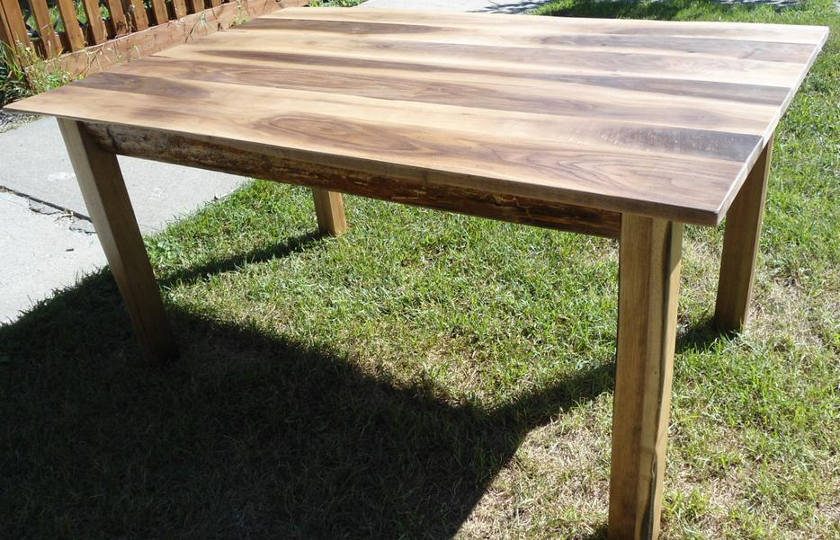 new live edge black walnut rustic dining table south east