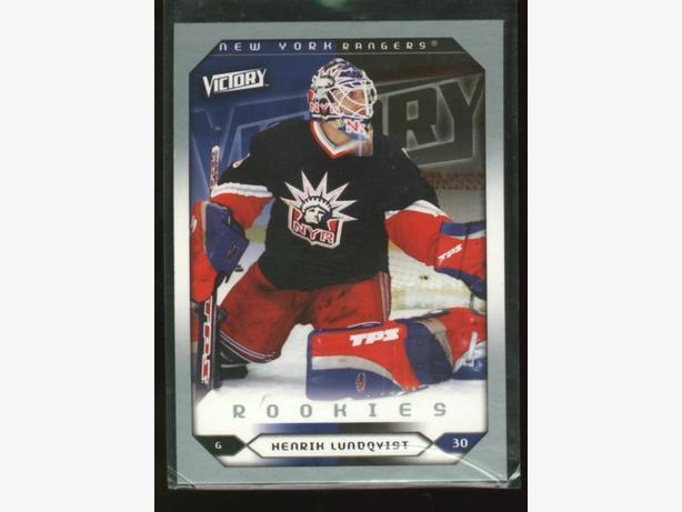 Henrik Lundqvist Rookie Card NY Rangers