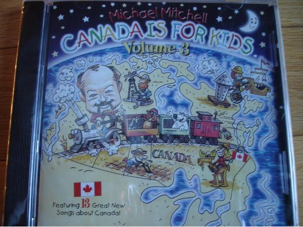 Brand New Michael Mitchell Music CD Canada is For Kids Volume 3