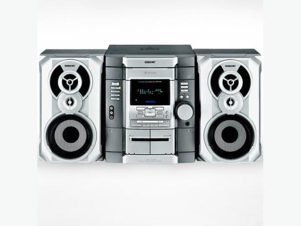 sony mhc gx20 stereo system 3 cd changer game sync front. Black Bedroom Furniture Sets. Home Design Ideas