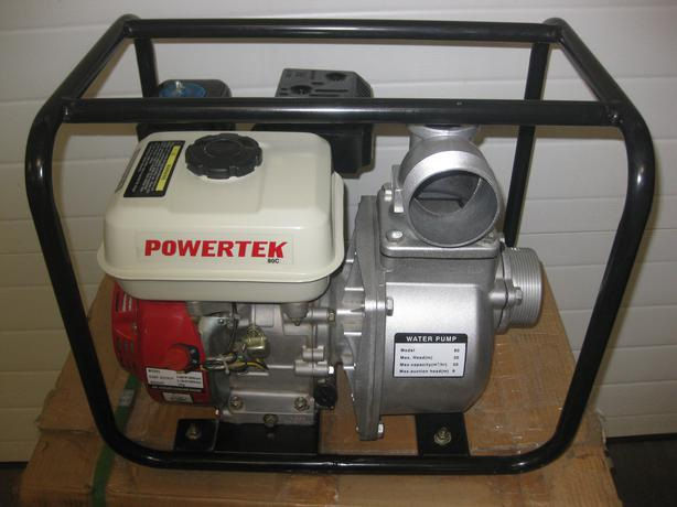 "NEW POWERTEC 80c 3"" WATER PUMPS 6.5 HP c/w HOSE & 2"" NEW WATER PUMPS"