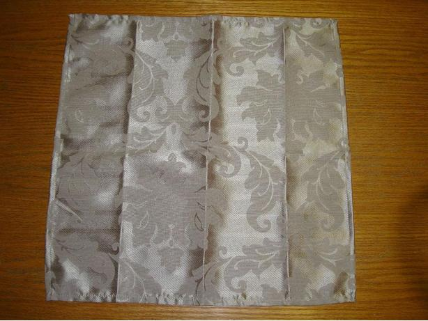 New 9 Beige/Gold Damask Napkins - $18