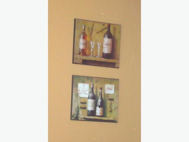 2 Laminated Wine Pictures - $10