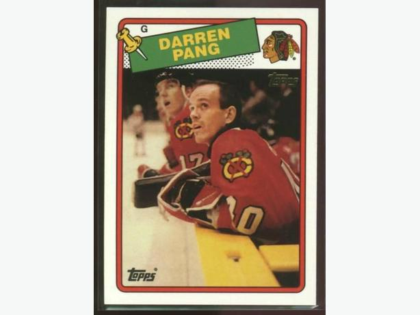 Darren Pang Topps Archives Rookie Reprint Chicago Blackhawks