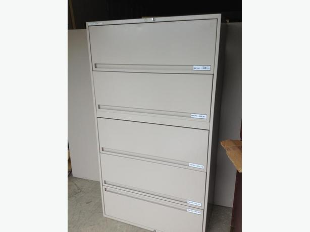 5 Drawer Lateral file cabinets