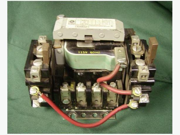 SIZE 1 CONTACTOR 4 pole 115V coil  O/Ls INTERLOCK C.G.E. good used