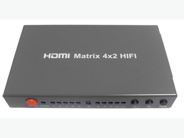 4 In 2 Out HDMI Matrix Switch with Optical & L&R Audio Outputs