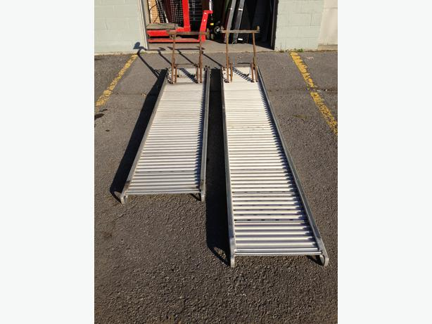 Ramps, truck ramps and other uses, made of aluminum.