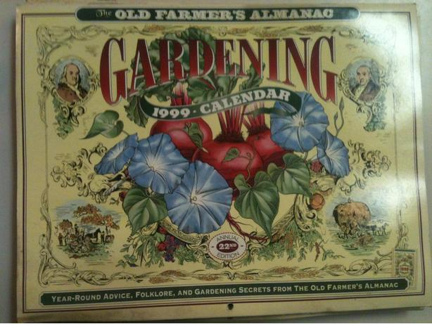 1999 Farmers Almanac Calendars