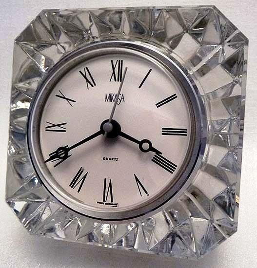 Mikasa Germany Faceted Austrian Crystal Quartz Clock ...