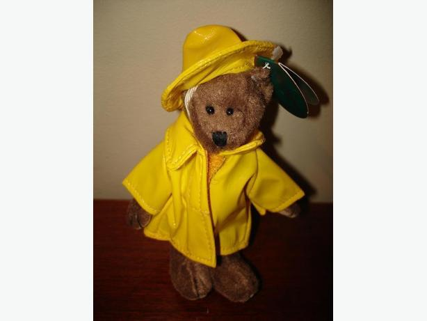 Brand New Very Cute Mini Bear with Removable Rain Coat and Hat