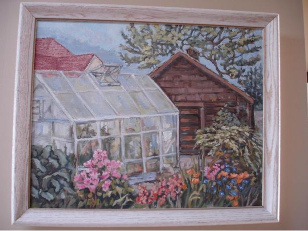 NiceLarge ORIGINAL ArcylicPainting withRemovableChabbyChic DesignSolidWoodFrame