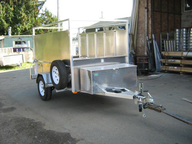Aluminum Boat Racks : All aluminum utility trailer with boat rack and loackable