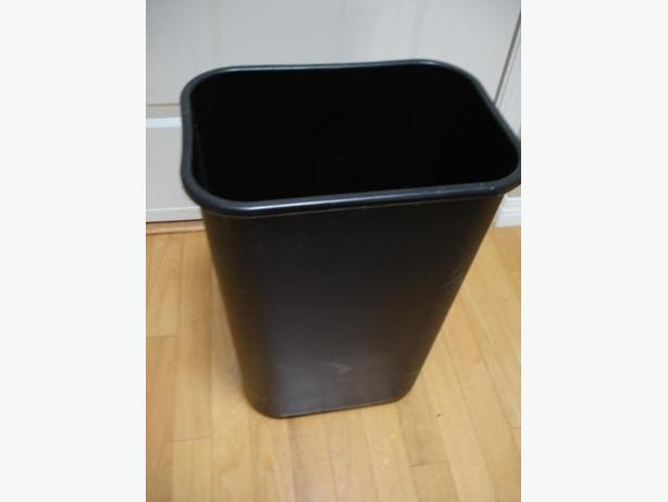 Large Size Heavy Duty Black Garbage Can Great for Home/Office use