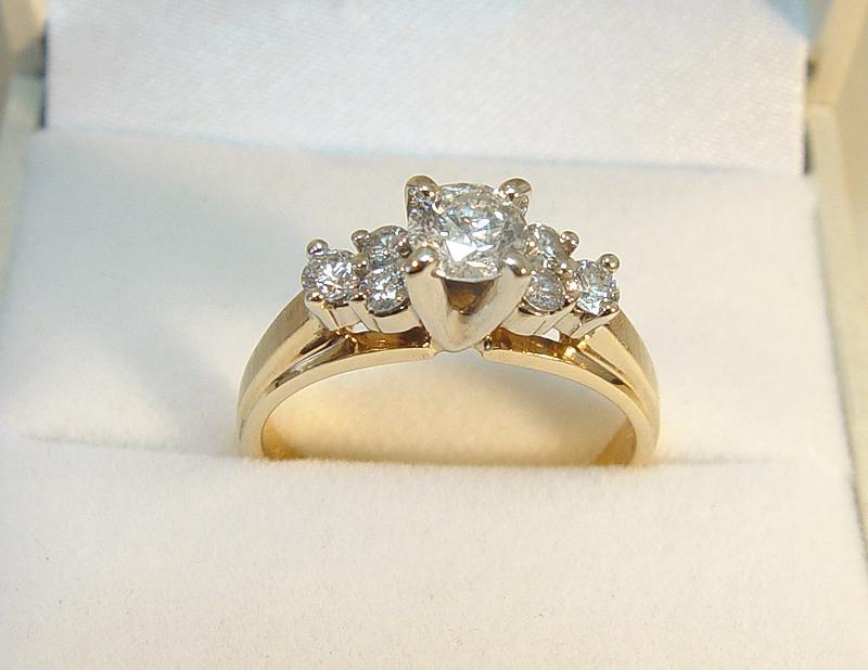 14k yellow gold 7 0 71tdw engagement ring 173733
