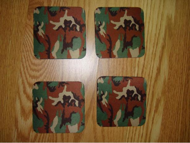 New Army Camouflage Coasters - Excellent Condition! $2