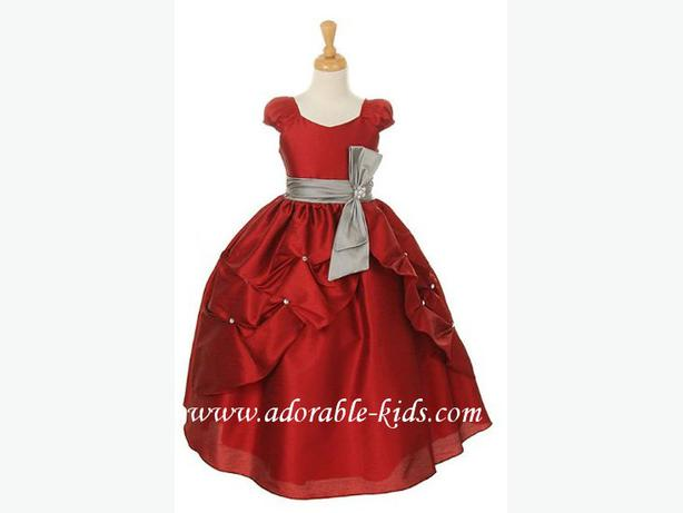 Nadine claret red flower girl dress or holiday dress we ship anywhere