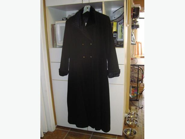 Winter Coat Black Wool Blend! Very Clean! - $25