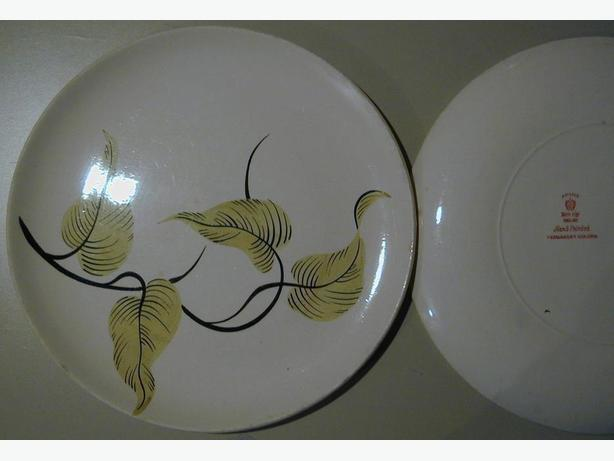 ADAMS CHINA LEAF DESIGN PLATES