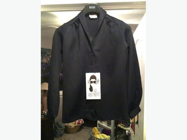 "New ""Hi Georgie"" Women's black blouse"
