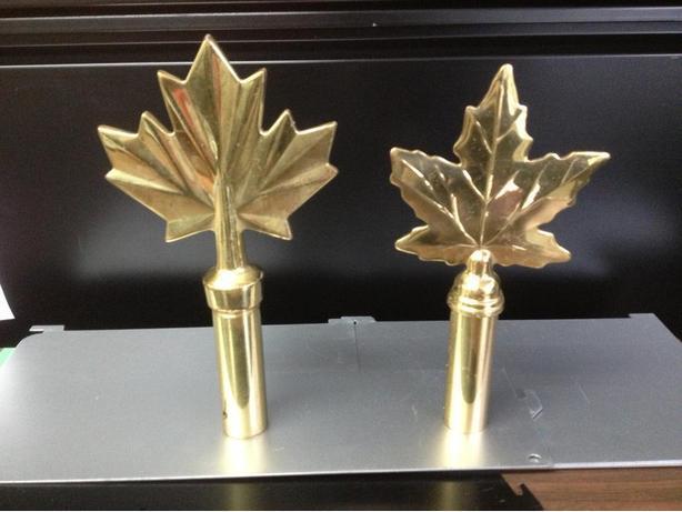 Maple Leaf Flag Pole top caps.