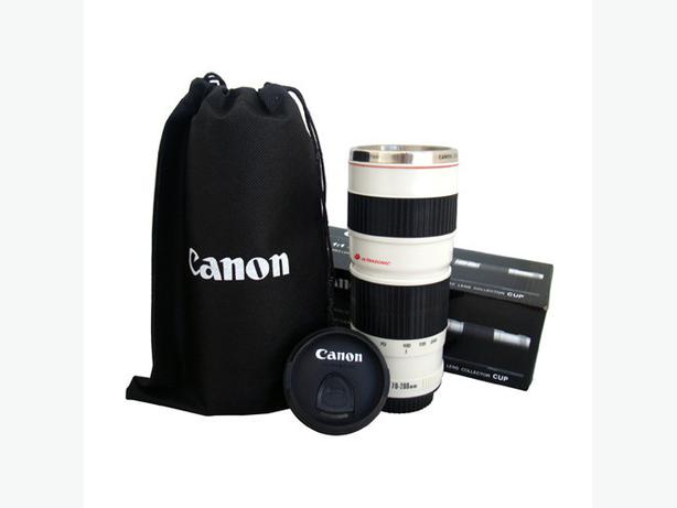 Canon camera lens 1 1 ef 70 200 mm white coffee cup mug Nikon camera lens coffee mug