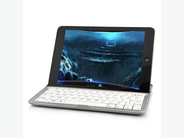 Aluminum Bluetooth Keyboard Case for iPad Mini - Black & Silver