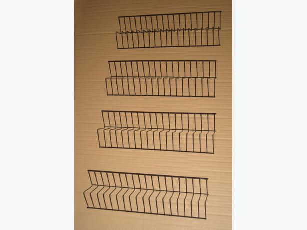 4 Like-New Small Black-Wire 18 Slot Organizers