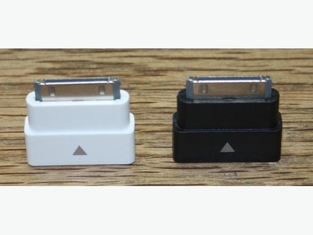 iPod / iPhone 30 Pin Dock Extender Adapters (Black or White)