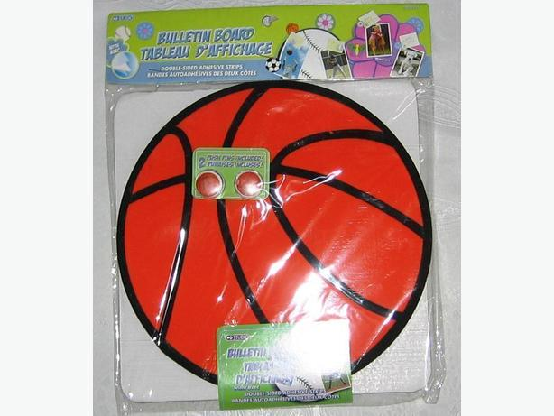 Basketball shaped  foam bulletin board with push pins - new