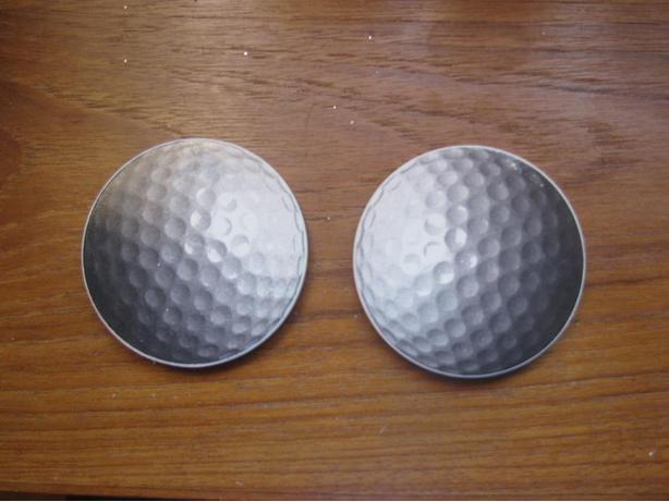 Absorbent stone golf car coasters - new