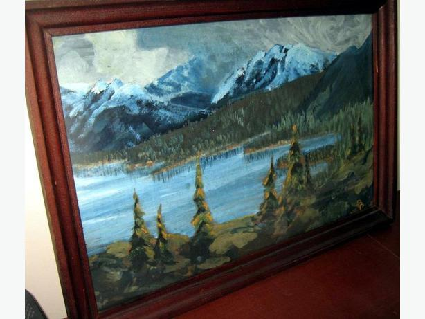 Art - Mountain Lake - Original Oil Painting