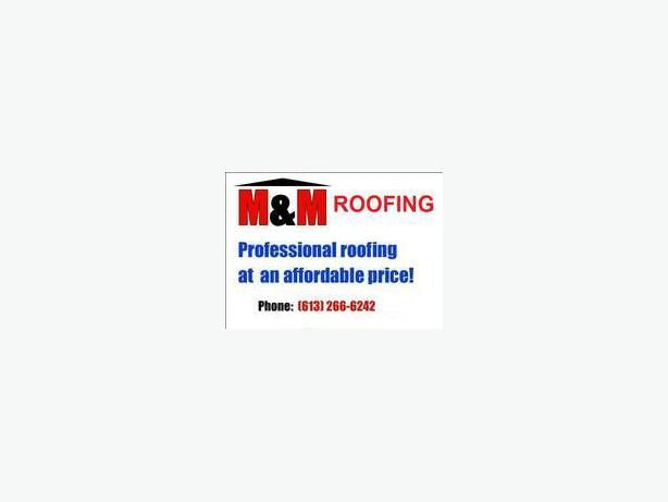 M&M ROOFING  NOW ACCEPTING CREDIT CARDS