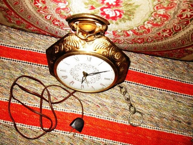 Vintage United Electric Pocket Watch Wall Clock Made In
