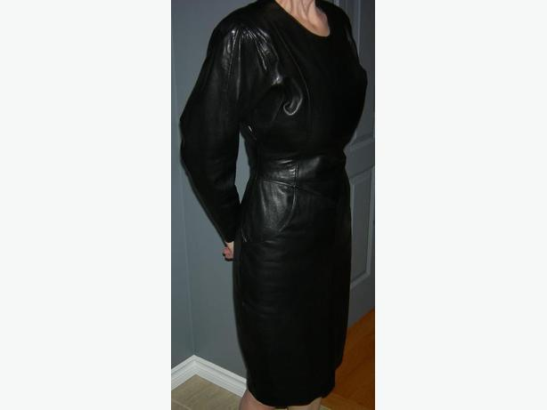Ladies Black Leather Dress