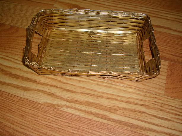 Gold Small Basket Carrier For Sale - Excellent Condition!
