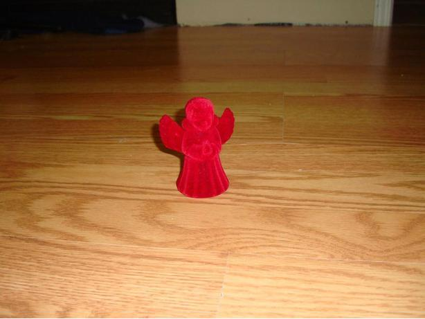 Red Velvet Angel Small Jewellry Holder- Excellent Condition! $1