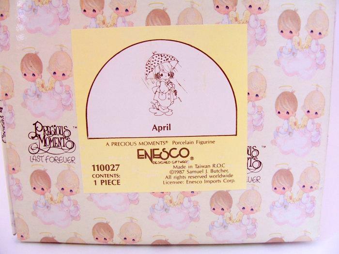 April Calendar Girl : Precious moments quot april calendar girl victoria
