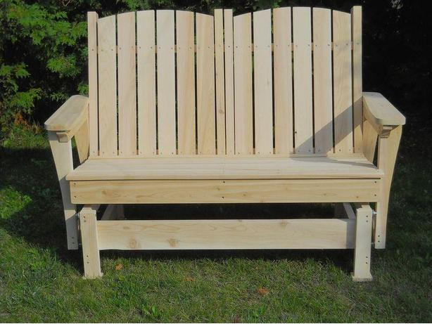 NEW!! Cedar Gliding rocking bench