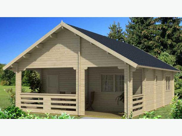 620 sqft diy log cottage kit with loft europa central for Log cabin kit homes victoria