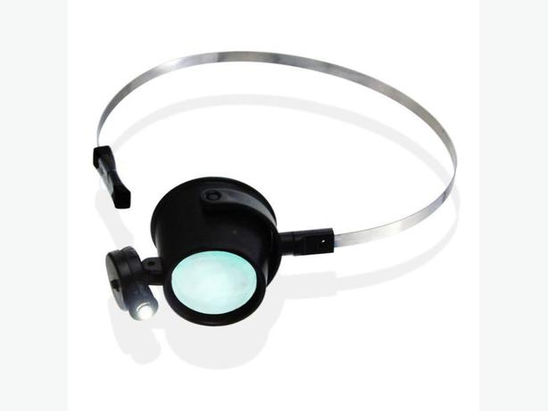 hands free loupe with led and head band