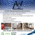 ABOVE WATER- FOUNDATION WATERPROOFING AND RESTORATION SERVICES