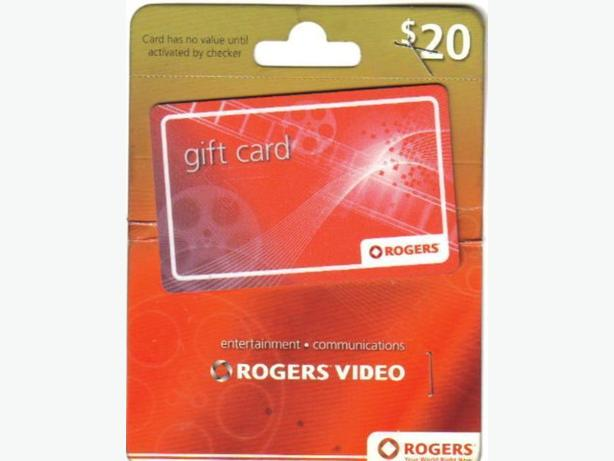 TRADE $20 ROGERS  GIFT  CARD