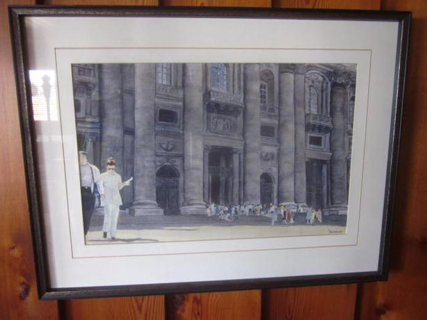 Hand Painted picture of the Vatican in Rome