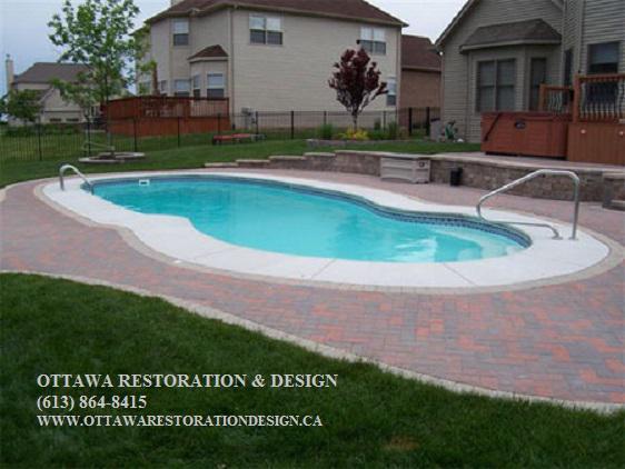 Licensed pool deck repairs resurfacing restoration for Pool design guelph